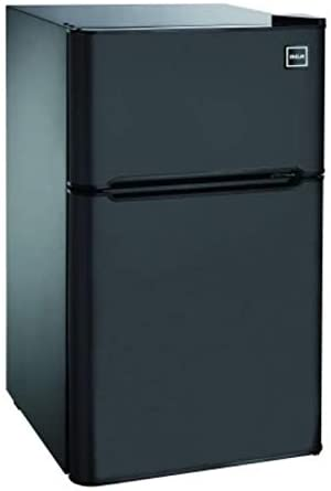 2 Door Compact and Narrow Fridge Black from RCA