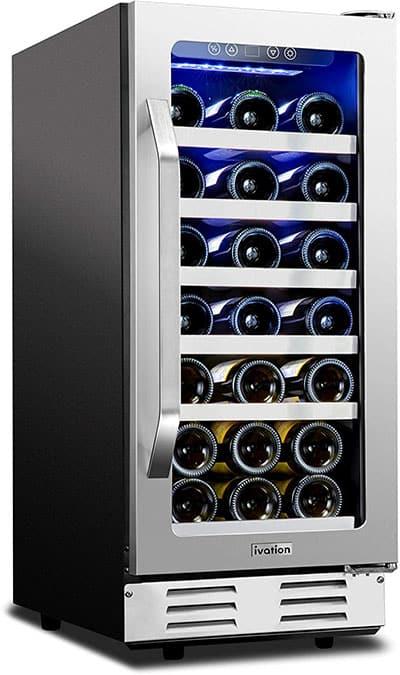 Ivation 31 bottle built-in wine cooler