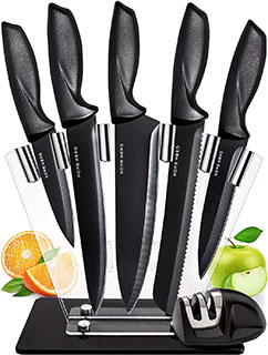 HomeHero 7 piece Stainless Steel Kitchen Knife Set