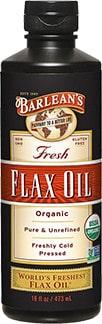 Barlean's Fresh Organic Flax Oil - best oil to use to season cast iron