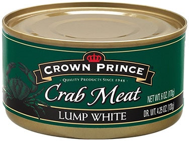Crown Prince Lump White Canned Crab Meat