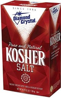 Diamond Crystal Kosher Salt - best kosher salt brand