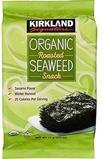 FCV Kirkland Organic Seaweed Snack - top seaweed snacks