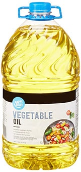Happy Belly Vegetable Oil - best oil to season cast iron pan