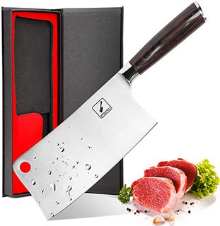 Imarku 7'' Chinese Chef Knife - best chinese chef knife