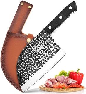 Imarku Butcher Knife Handmade Serbian Chef Knife - best serbian chef knife