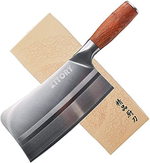 Kitory Chinese Vegetable and Meat Cleaver - best asian chef knife
