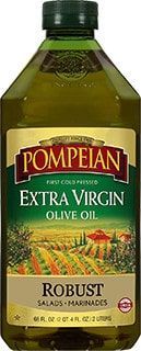 Pompeian Robust Extra Virgin Olive Oil - best oil for seasoning cast iron