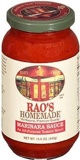Rao's Homemade Marinara sauce - healthy alternative to oyster sauce