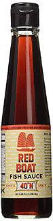 Red Boat Fish sauce - vegetarian alternative to oyster sauce