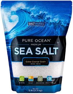 Saltworks Pure Ocean Sea Salt - best kosher salt for grinder