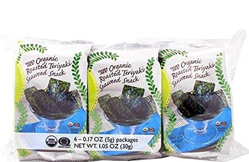 Trader Joe's Organic Roasted Teriyaki Seaweed Snack - best roasted seaweed snack