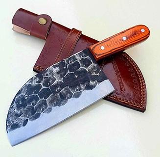 VK Damascus Handmade Carbon Steel Serbian Kitchen Chef Knife