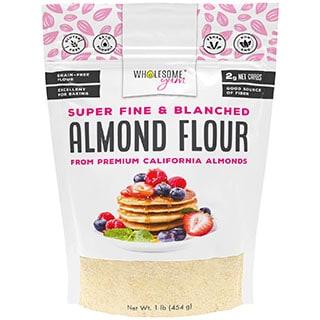 Wholesome Yum Premium Super Fine Blanched Almond Flour - coconut flour conversion chart
