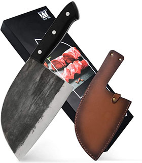 XYJ Full Tang Butcher Knife - best meat cleaver knife