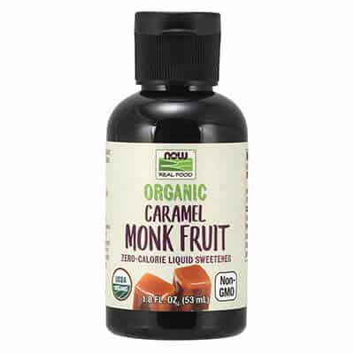 NOW food liquid monk fruit sweetener