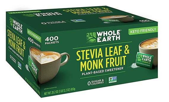 Whole earth monk fruit plant-based sweetener