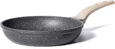 Carote Nonstick 8 inch Granite Coated Pan - best non teflon non stick pan