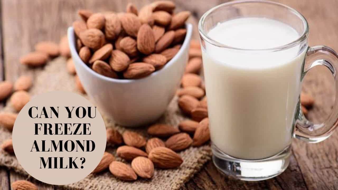 can you freeze almond milk_