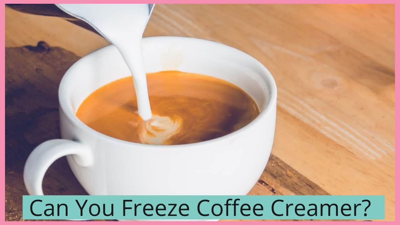 can you freeze coffee creamer