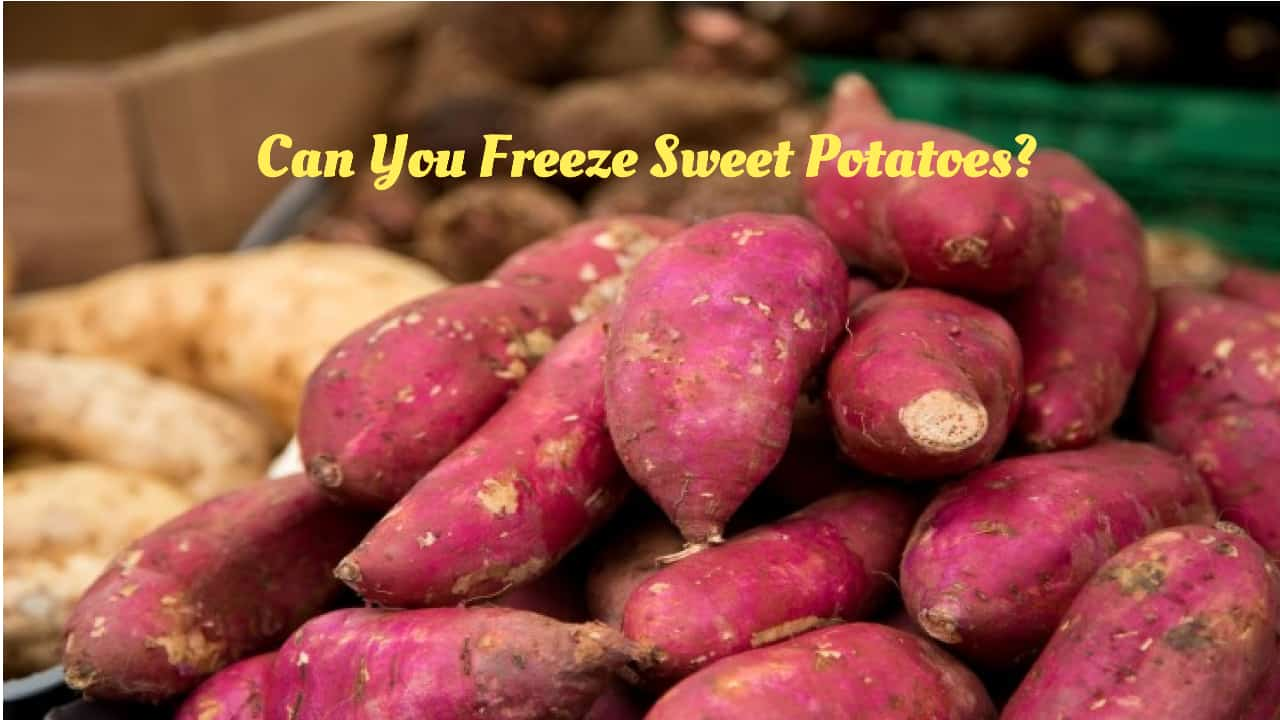 can you freeze sweet potatoes