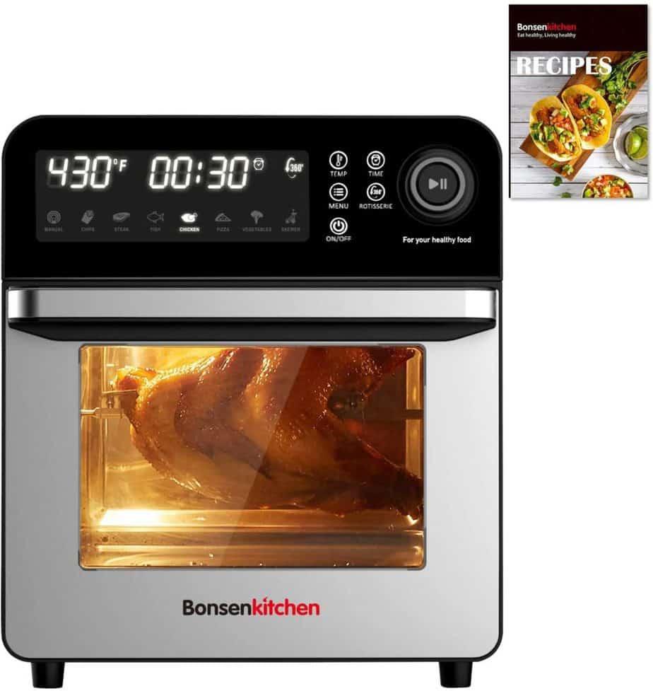 Bonsenkitchen Rotisserie Oven with Dehydrator