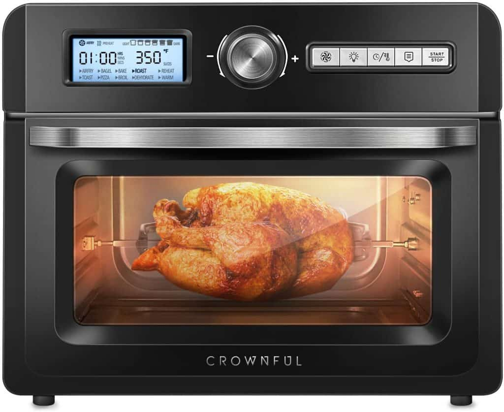 CROWNFUL Air Fryer Oven Roaster with Rotisserie