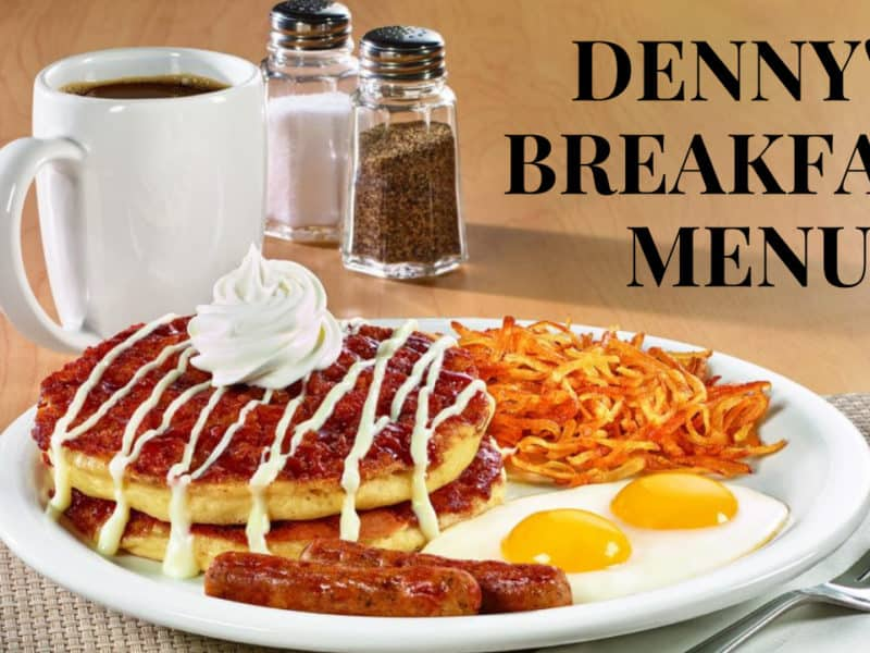 Denny's breakfast menu