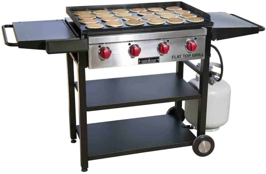 Portable stainless steel flat top grill by Camp Chef