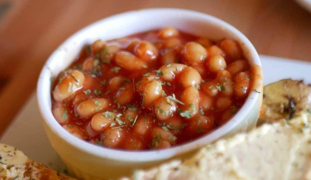 How do you reheat frozen beans