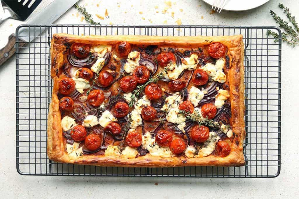 freeze a goat's cheese tart