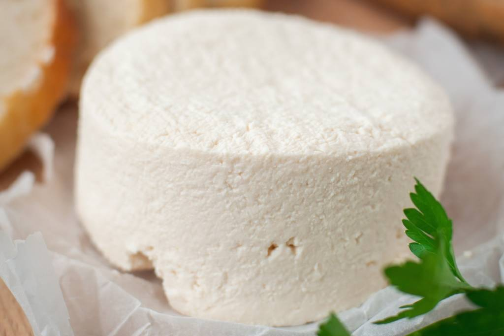 freeze raw goat cheese