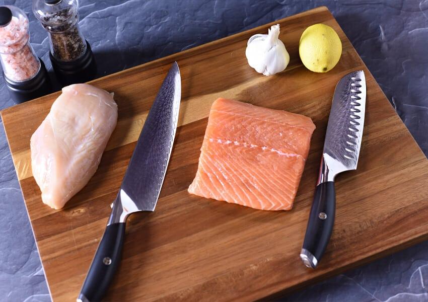 chef's knife vs santoku