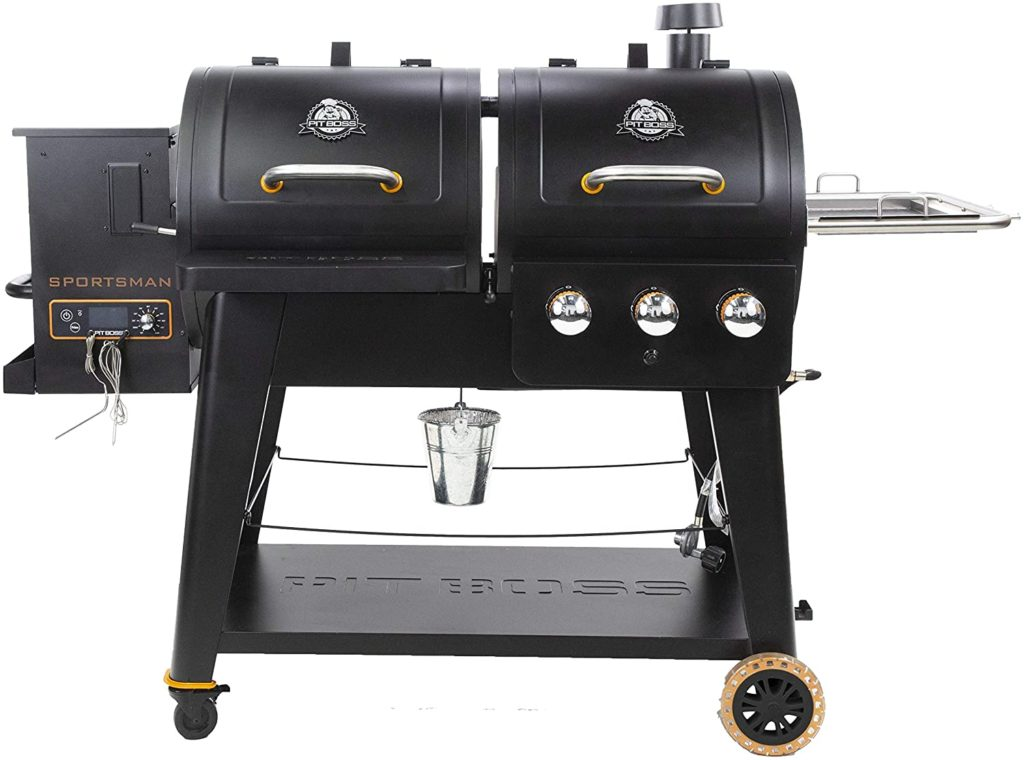 Pit Boss Pellet And Gas Grill Reviews PB1230SP Wood Pellet and Gas Combo Grill