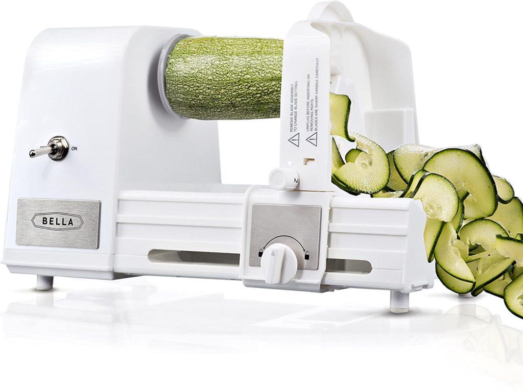 Automatic Electric Zucchini Spiralizer & Slicer Bella 4-in-1 Electric Spiralizers