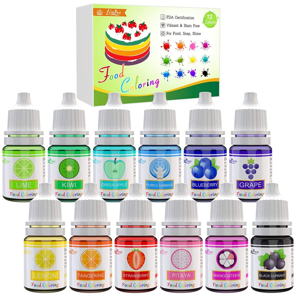 Food Coloring - 12 Color Vibrant Cake Food Coloring Set