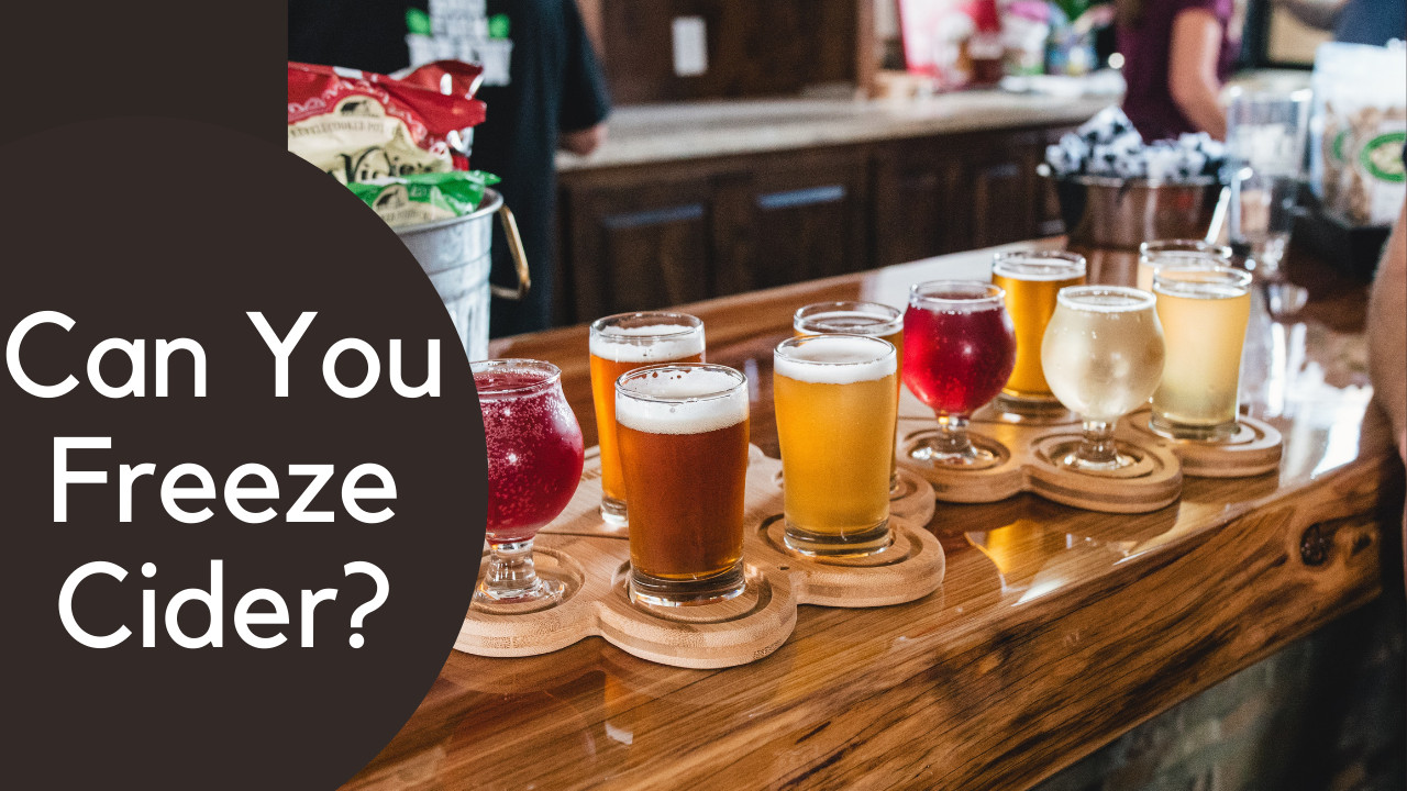 Can you freeze cider