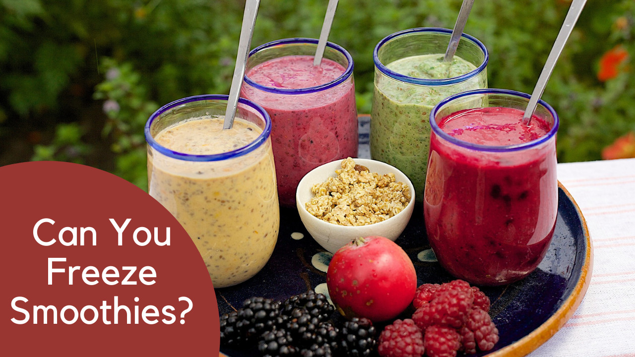 can you freeze smoothies
