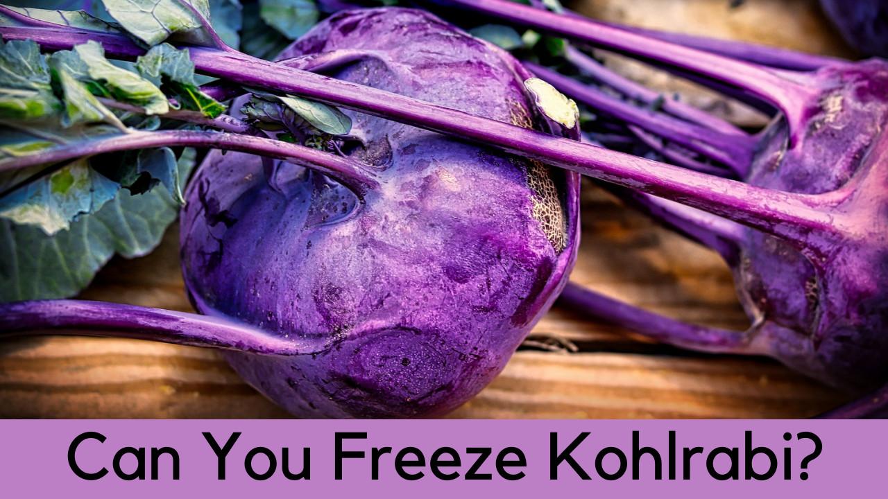 can you freeze kohlrabi
